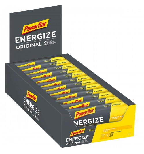 Caja Powerbar barrita Energize Banana (25 unidades)