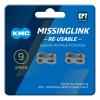 Eslabón cadena KMC 9 velocidades (2 unidades)