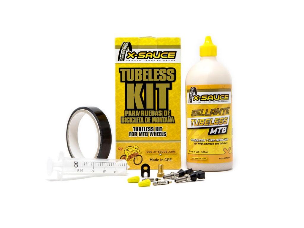 Kit Tubeless X-Sauce MTB valvula fina