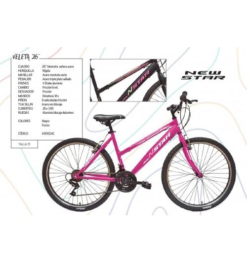 Bicicleta NEW STAR VELETA S 26