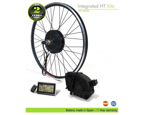 Kits eléctrico bicicleta M15 EFF 800W BPM HT -Batería bolsa sillín 52V/11.6Ah