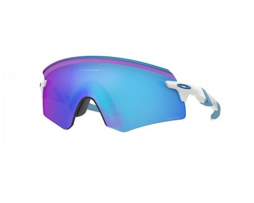 Gafas Oakley Encoder Polished White con lentes Prizm Sapphire